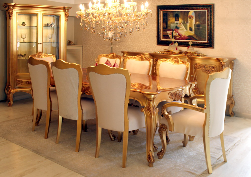 Classic dining room avantgarde dining room turkish for Classic dining room furniture